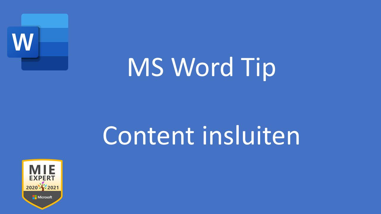 Content insluiten in Word online