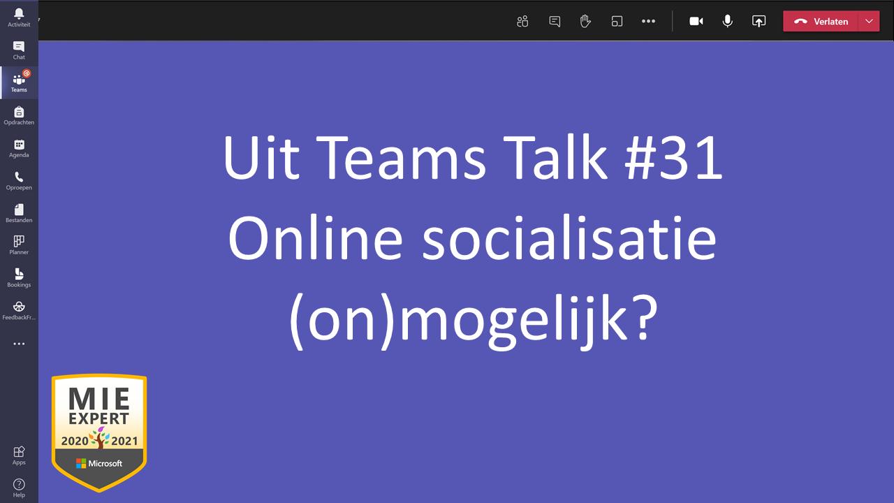 Online socialisatie (on)mogelijk?