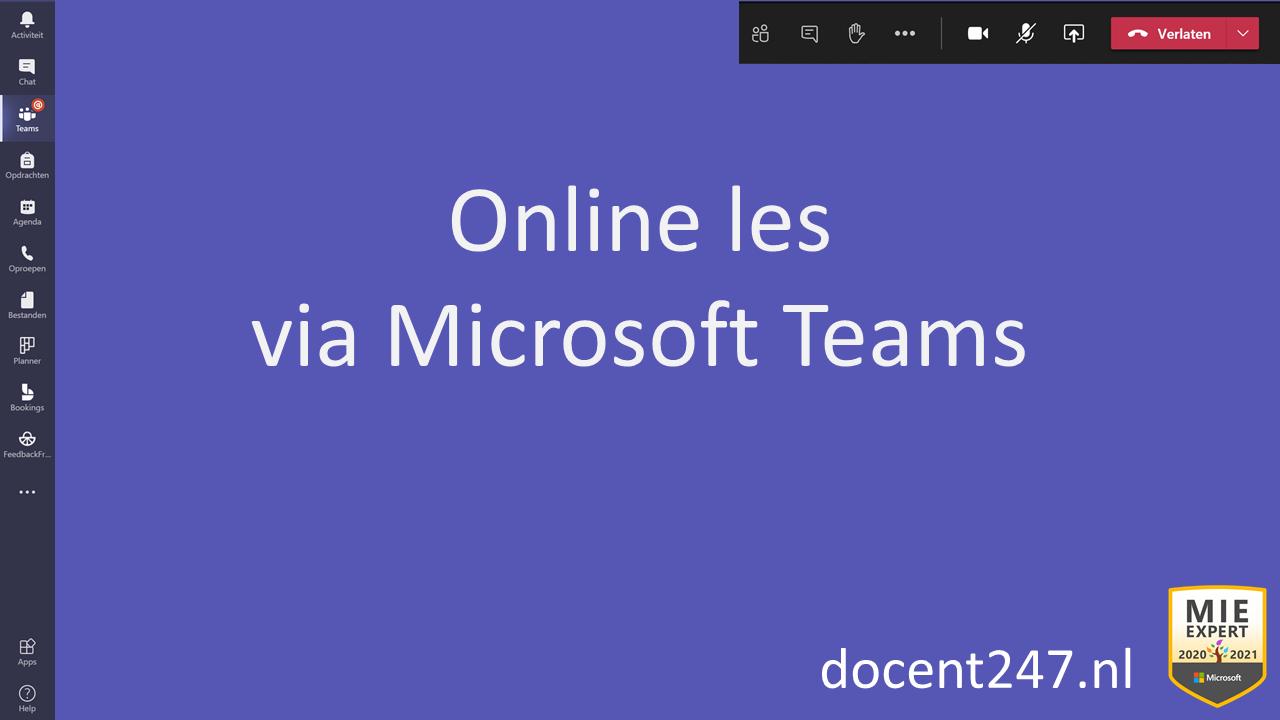 Online les m.b.v. MS Teams