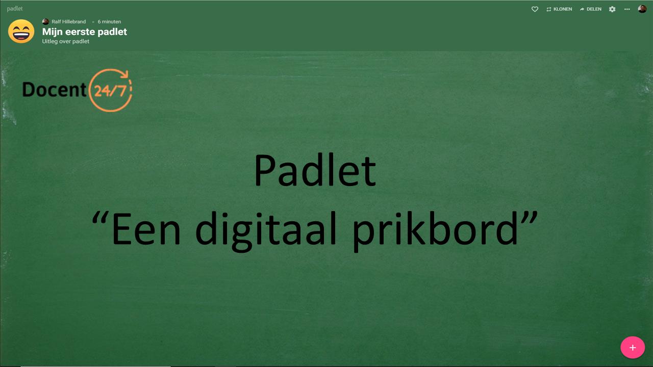 """Padlet """"een digitaal prikbord"""""""