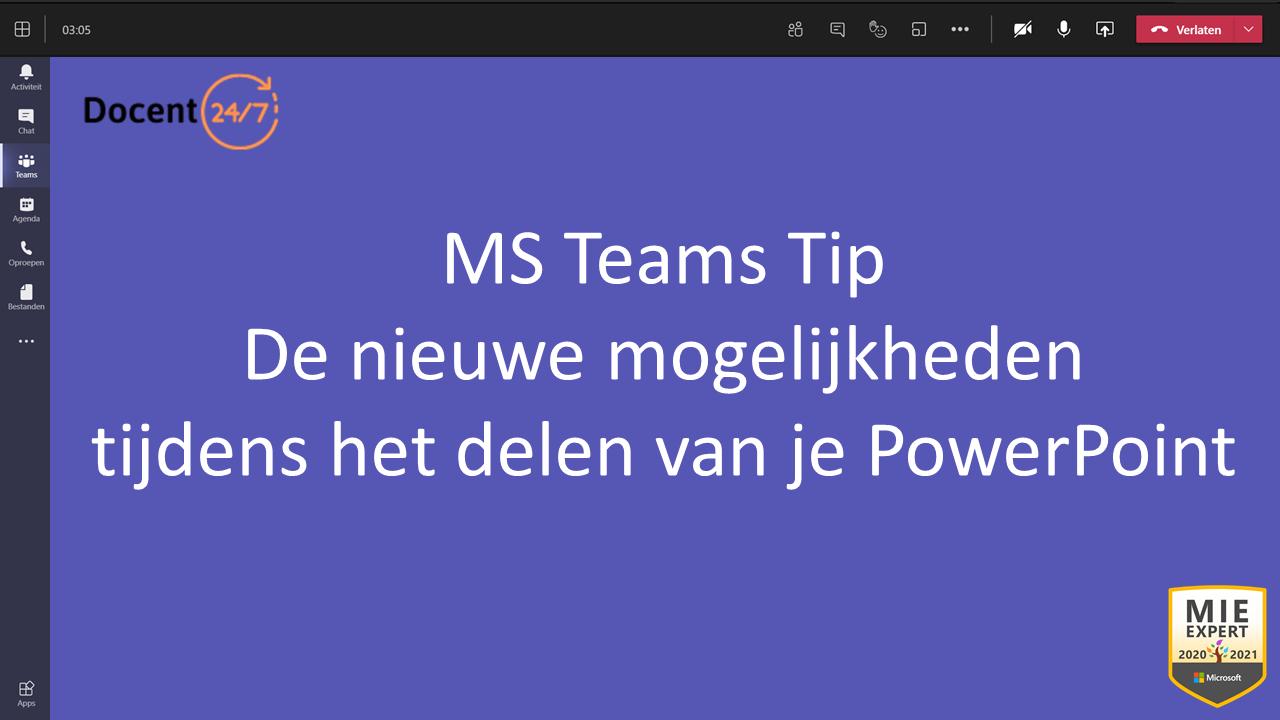 Nieuwe mogelijkheden tijdens het delen van je PowerPoint