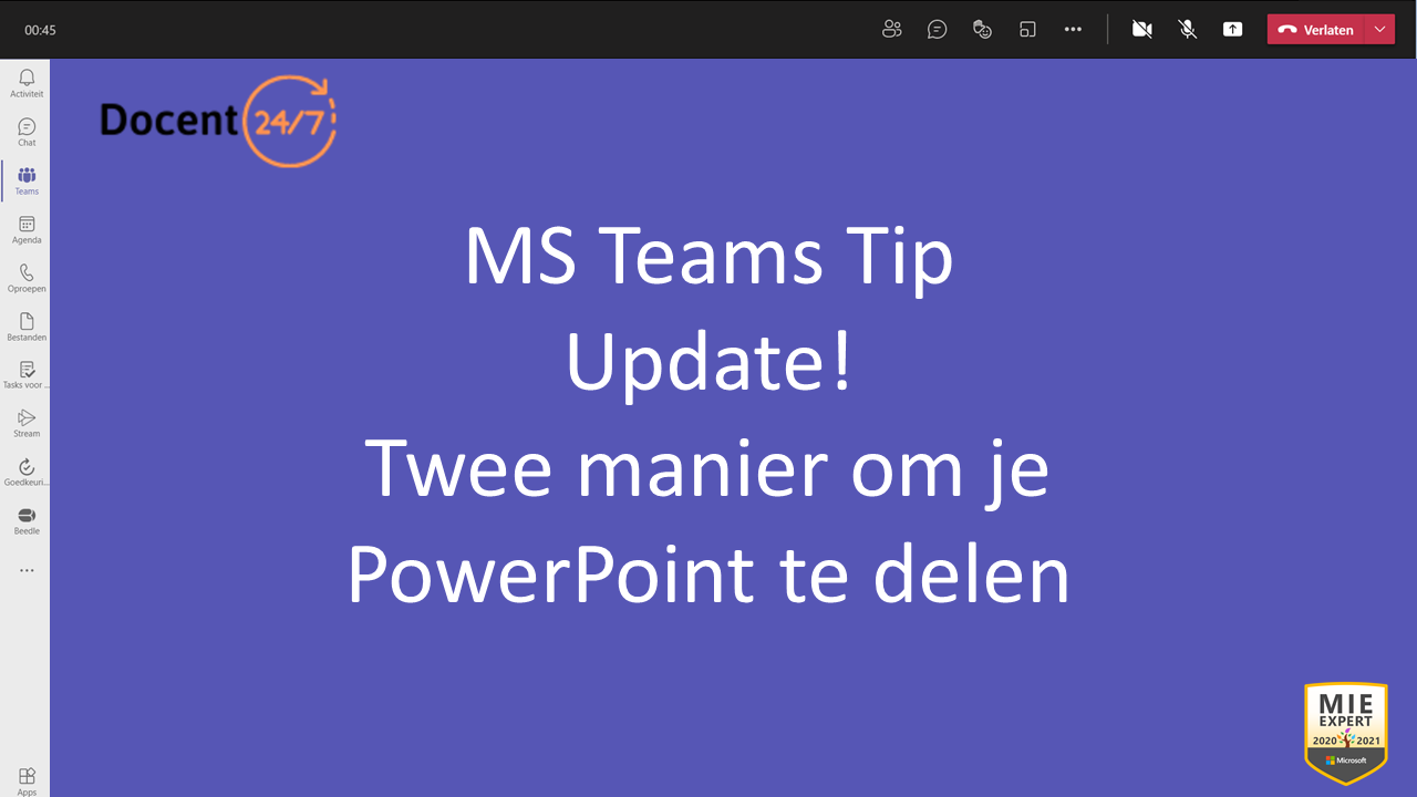 2 manieren om je PowerPoint te delen in MS Teams